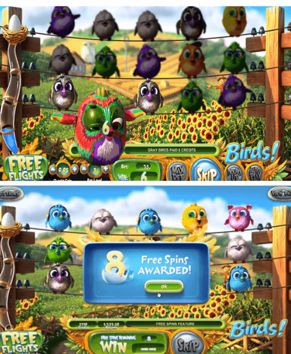 symbols of Birds slot game