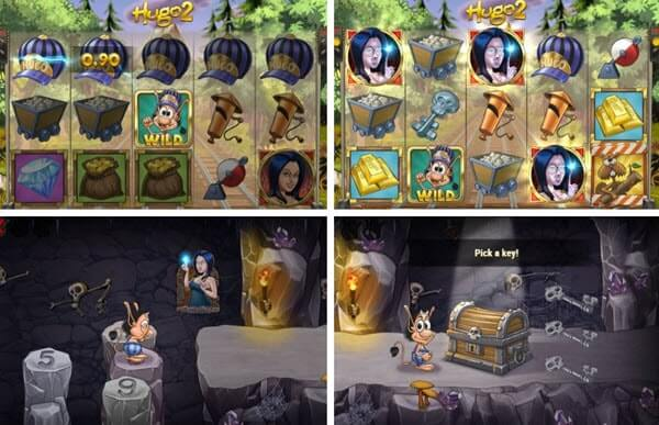 features of Hugo 2 slot game