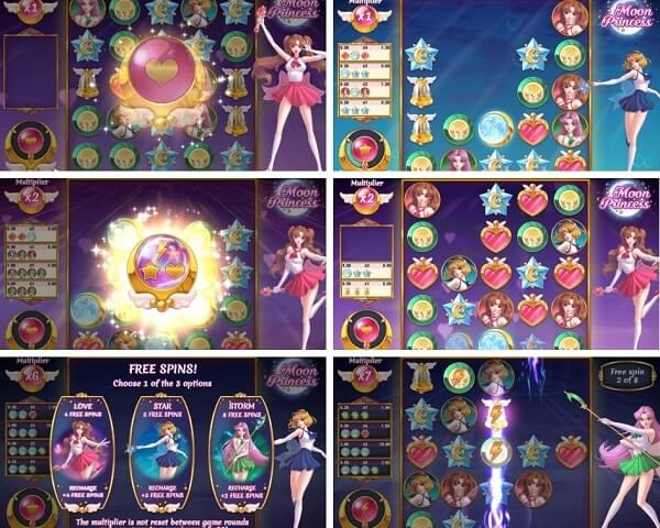 Bonus Rounds ofMoon Princess slot game