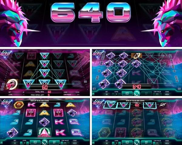 features of neon staxx slot machine