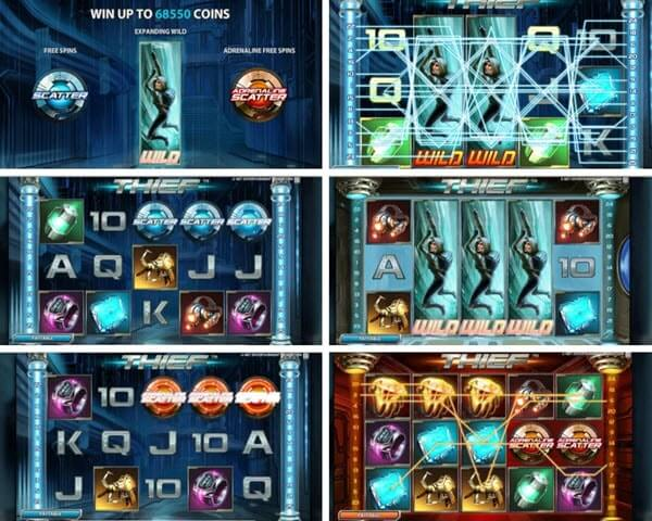 symbols and features of the thief slot