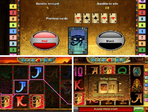 Features of Book of Ra Deluxe slot game