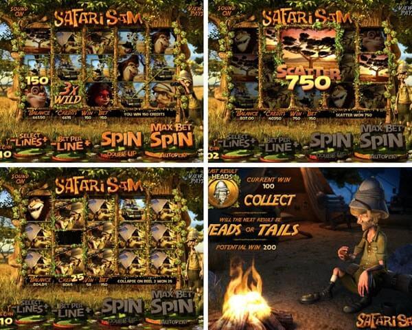 Wild And Scatter Symbols of safari sam slot game