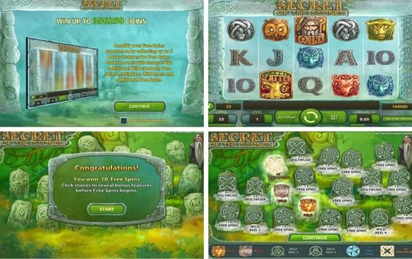 Features of Secret of the Stones slot game