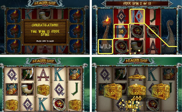 Features of Dragon Ship slot game
