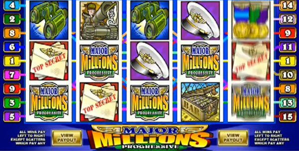 Major millions slot game by Microgaming