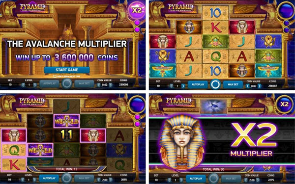 Features of Pyramid quest for immortality video slot