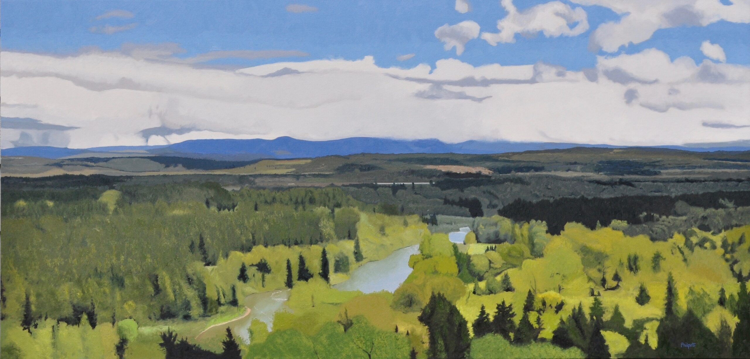 Basin Spring, oil on canvas, 32x66