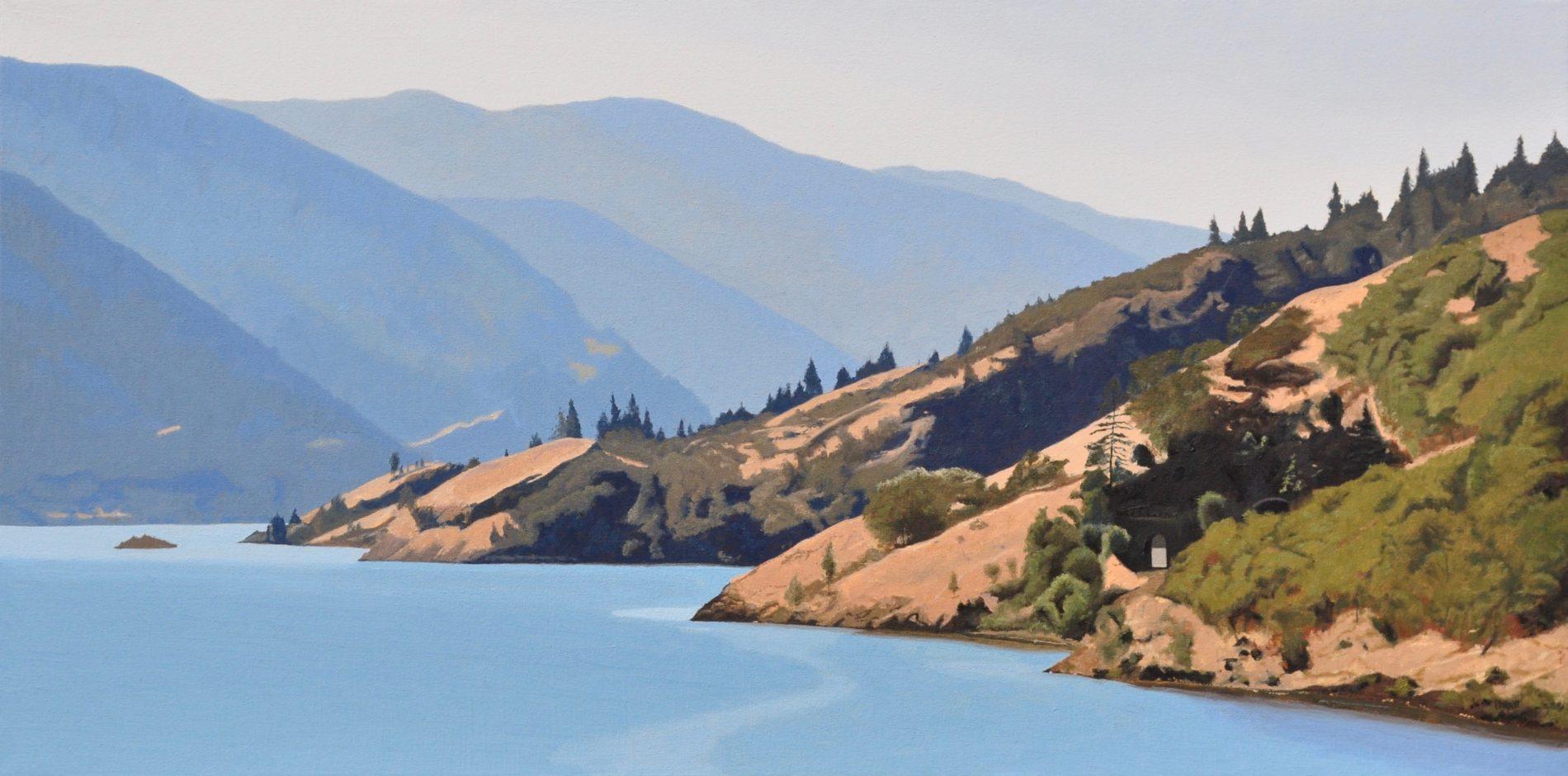 Land and Water, oil on canvas, 20x40