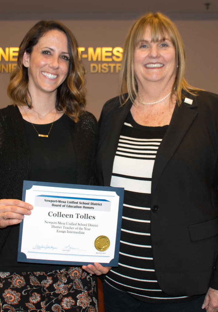 colleen tolles, teacher of the year