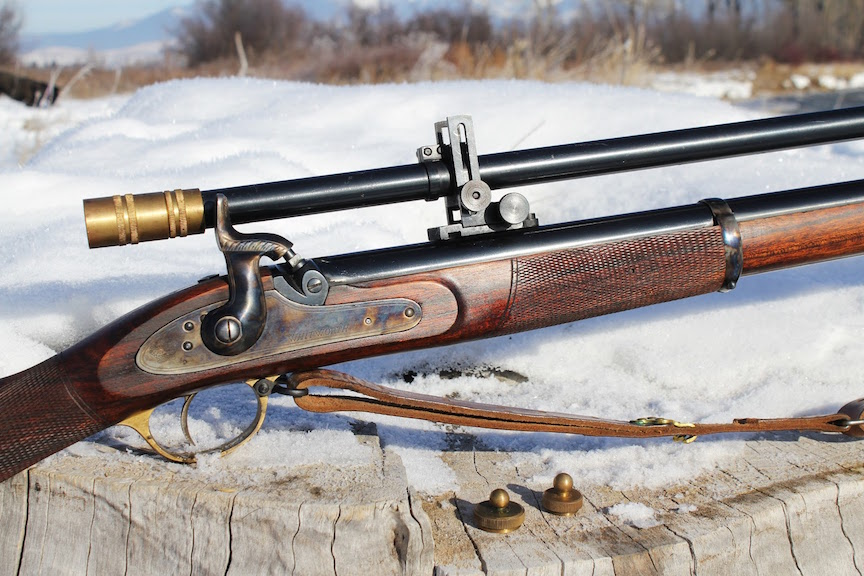 Whitworth rifle with scope.