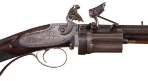 Collier Revolving Flintlock Rifle