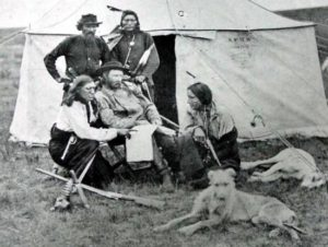 Custer with Scouts