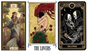 Lovers Tarot Cards (Upper Row)