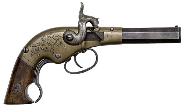 W.W. Marston Single-Shot Breech-Loading Pistol
