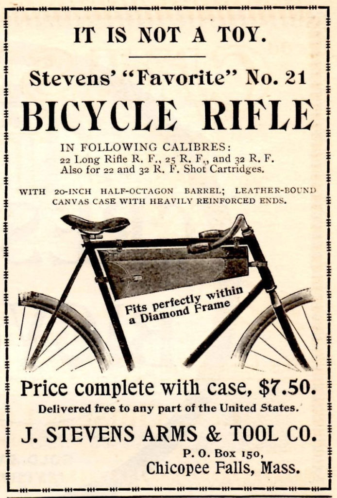 "Stevens ""Bicycle Rifle"" Ad"
