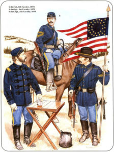 Three Cavalry Troopers from the 1870s