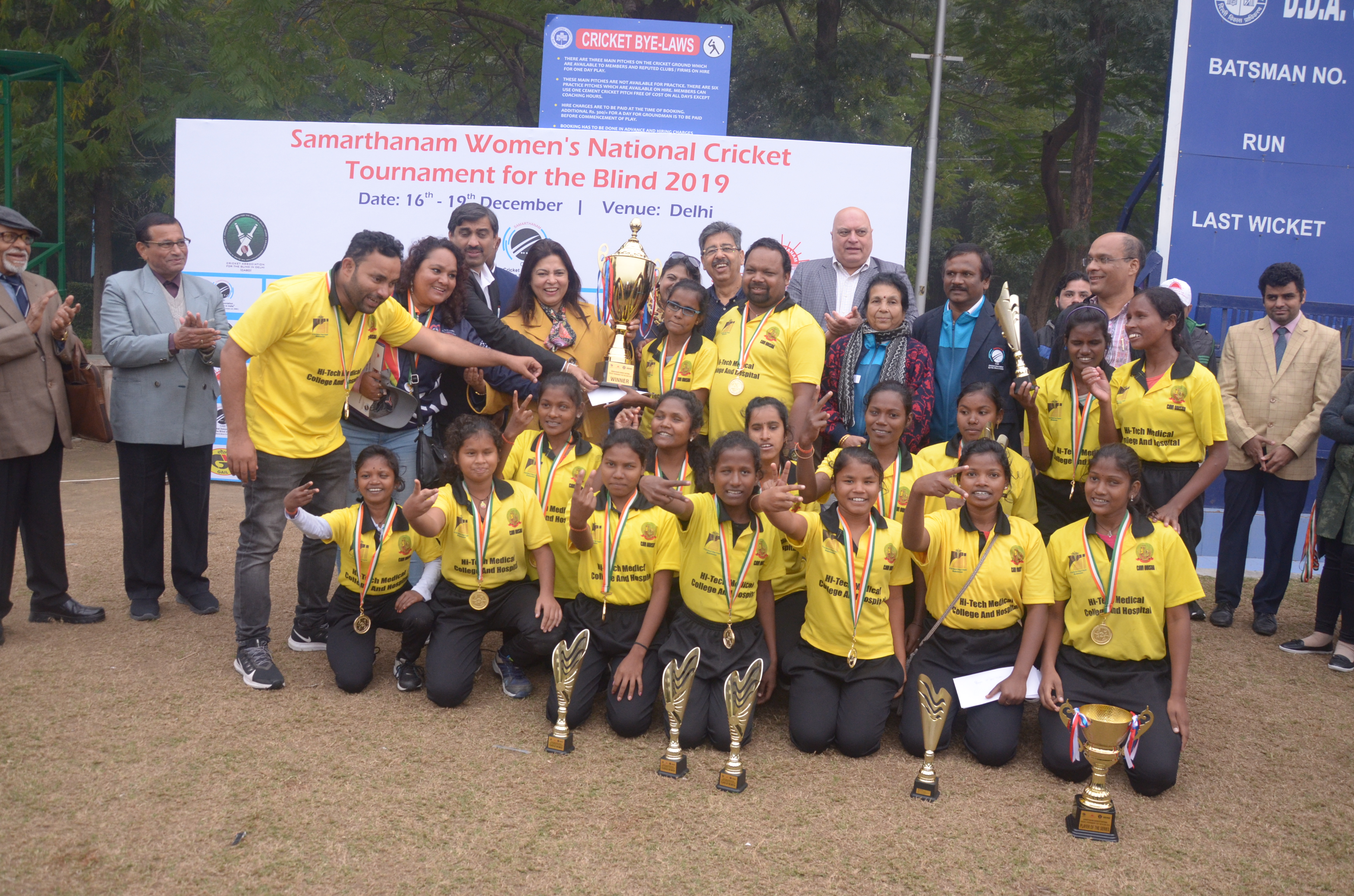 Odisha crowned inaugural champions of Samarthanam Women's National Cricket Tournament for the Blind – 2019
