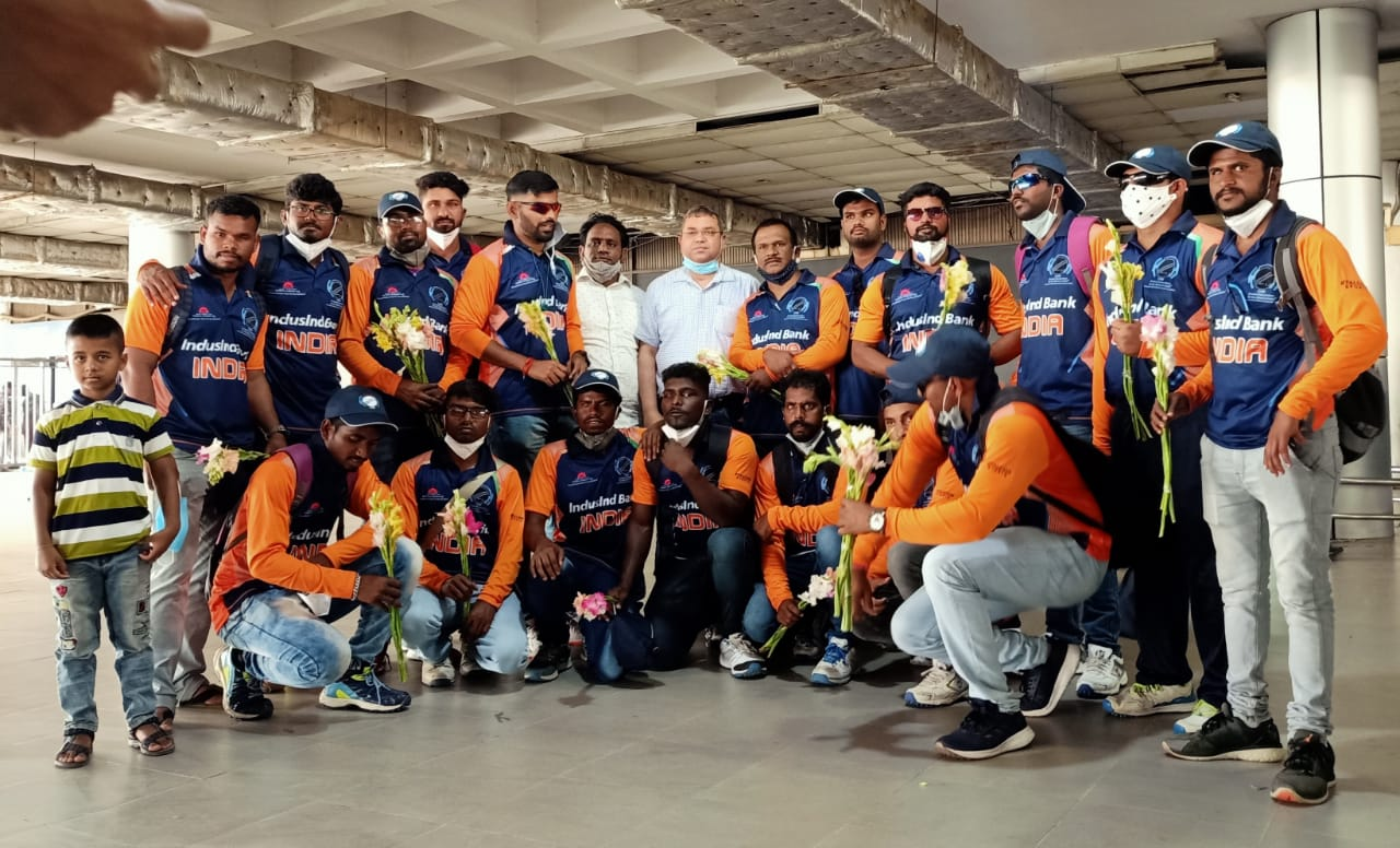 The Indian cricket team reached Dhaka, Bangladesh to play Tri- Nation Blind T20 Cricket Tournament from April 02- 08, 2021
