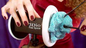 1 Hour ASMR Glitter Glue Ear Cleaning No Talking – B1E Binaural Dummy Head Microphone