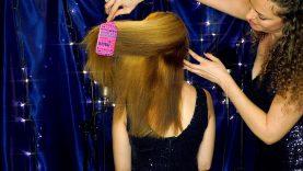 Intense ASMR Hair Brushing Sounds – Binaural Microphones in Brush – Mostly No Talking