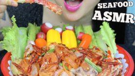 ASMR SEAFOOD SPICY THAI SALAD + FRESH VEGGIES (CRUNCHY EATING SOUNDS) NO TALKING | SAS-ASMR