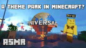 Minecraft ASMR | Let's visit Universal Studios together! 🌎