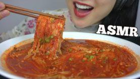 ASMR SPICY ENOKI MUSHROOM *COOKING (SATISFYING CRUNCHY EATING SOUNDS) NO TALKING | SAS-ASMR