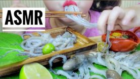 ASMR EATING RAW OCTOPUS WITH LIME AND SPICY SAUCE ,  EATING SOUNDS | LINH-ASMR