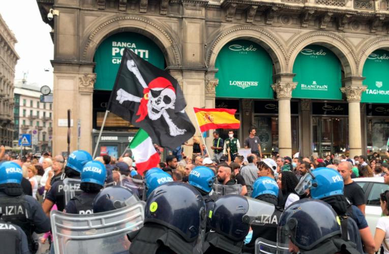 El fascismo resurge en Italia de la mano de los antivacunas