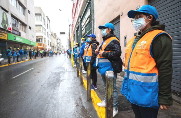 Mesa Redonda: recuperan el espacio público en el jr. Paruro