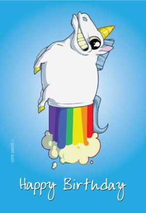 Rainbow farting unicorn!