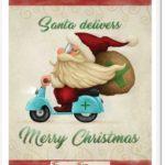 Santa delivers