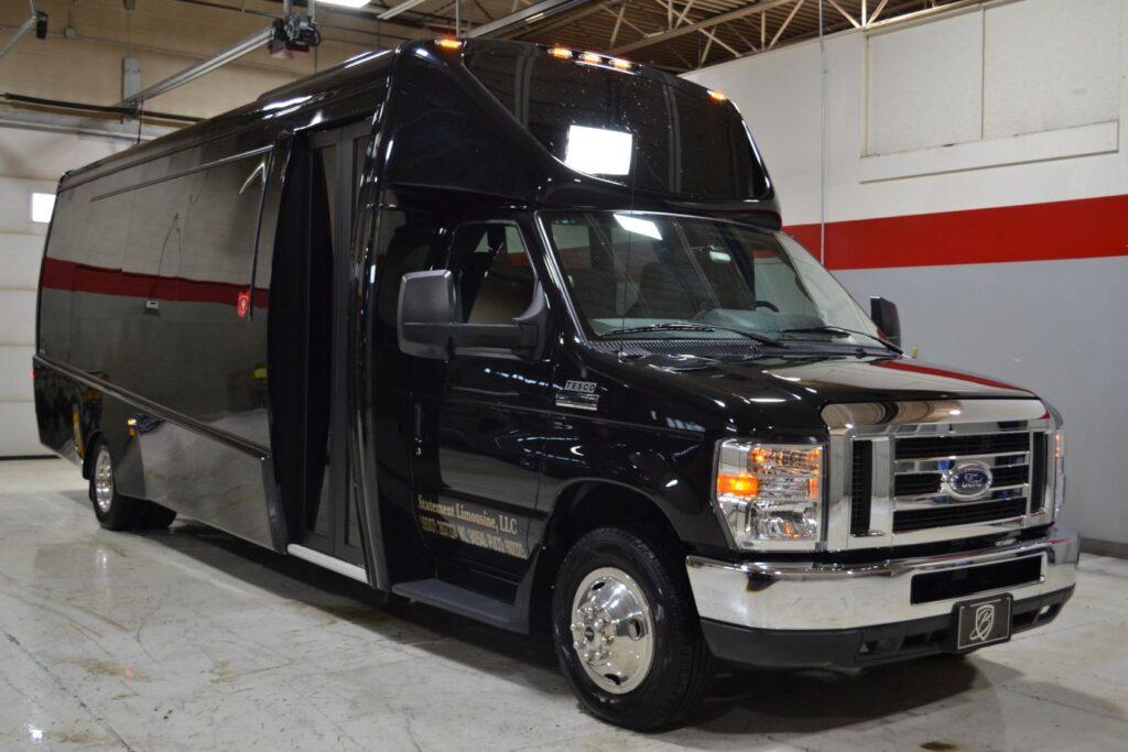 23 passenger corporate shuttle bus.