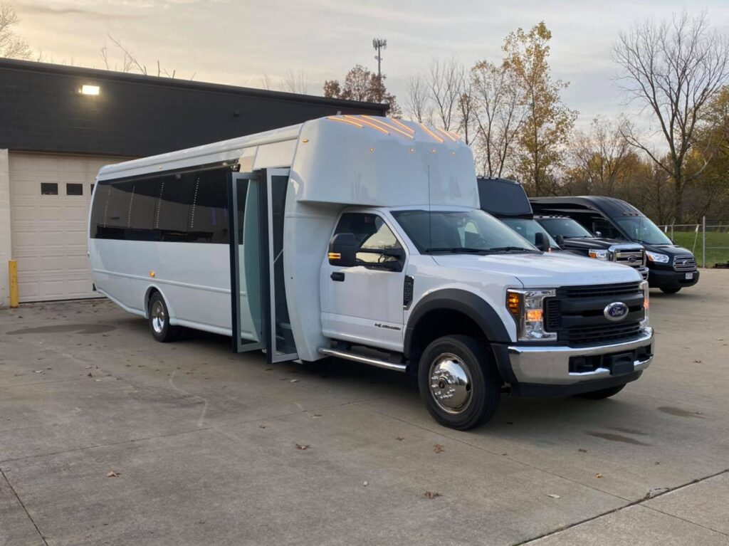25-29 passenger limo party bus