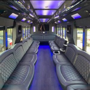 50 passenger limo party bus