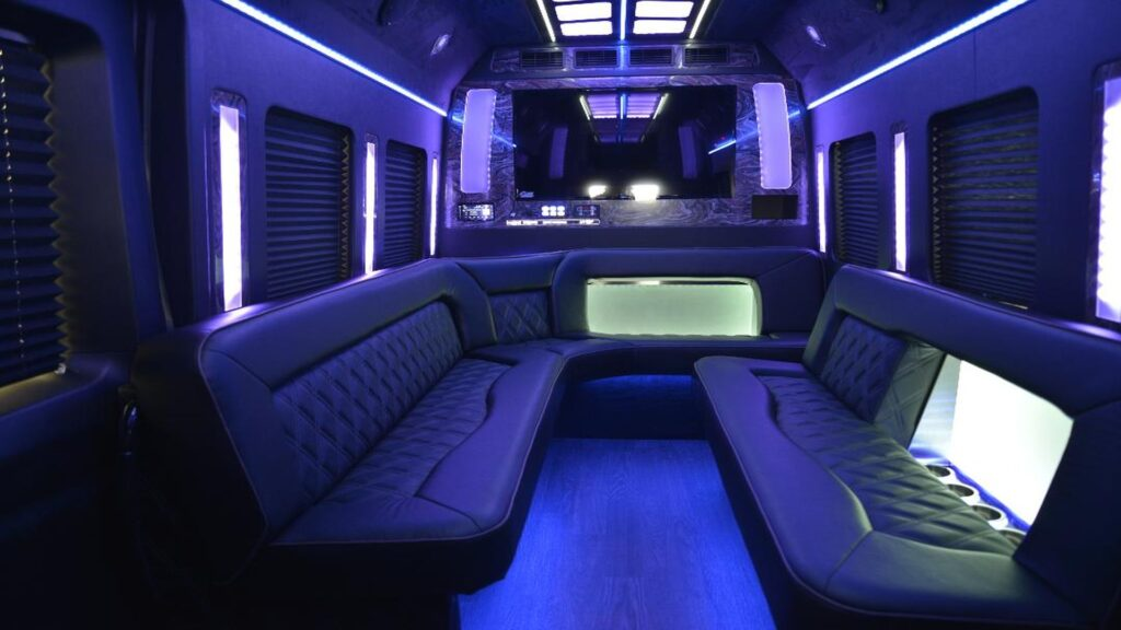 14 passenger limousine party bus