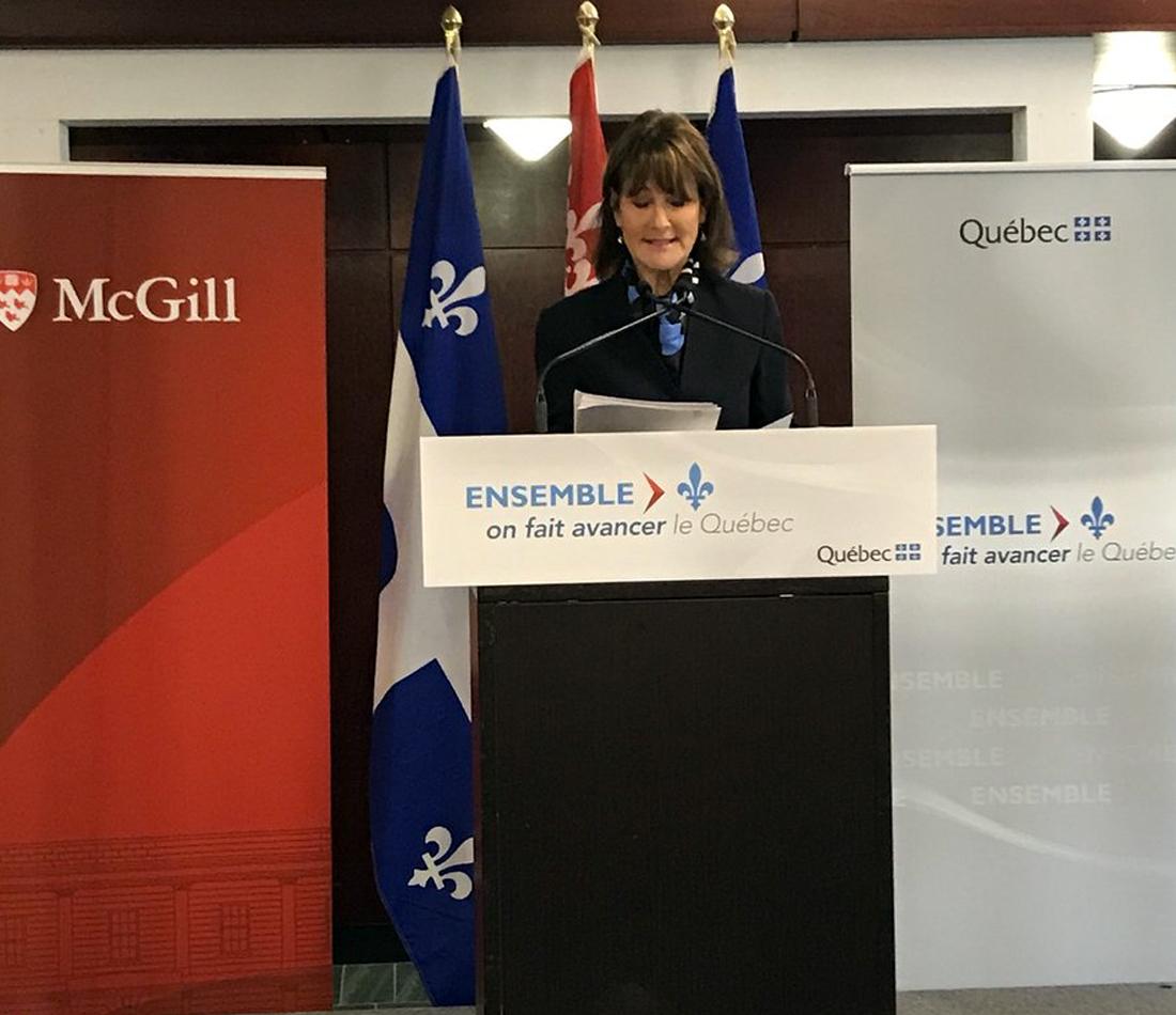 Le gouvernement et l'Université McGill s'unissent pour retenir les jeunes diplômés d'expression anglaise