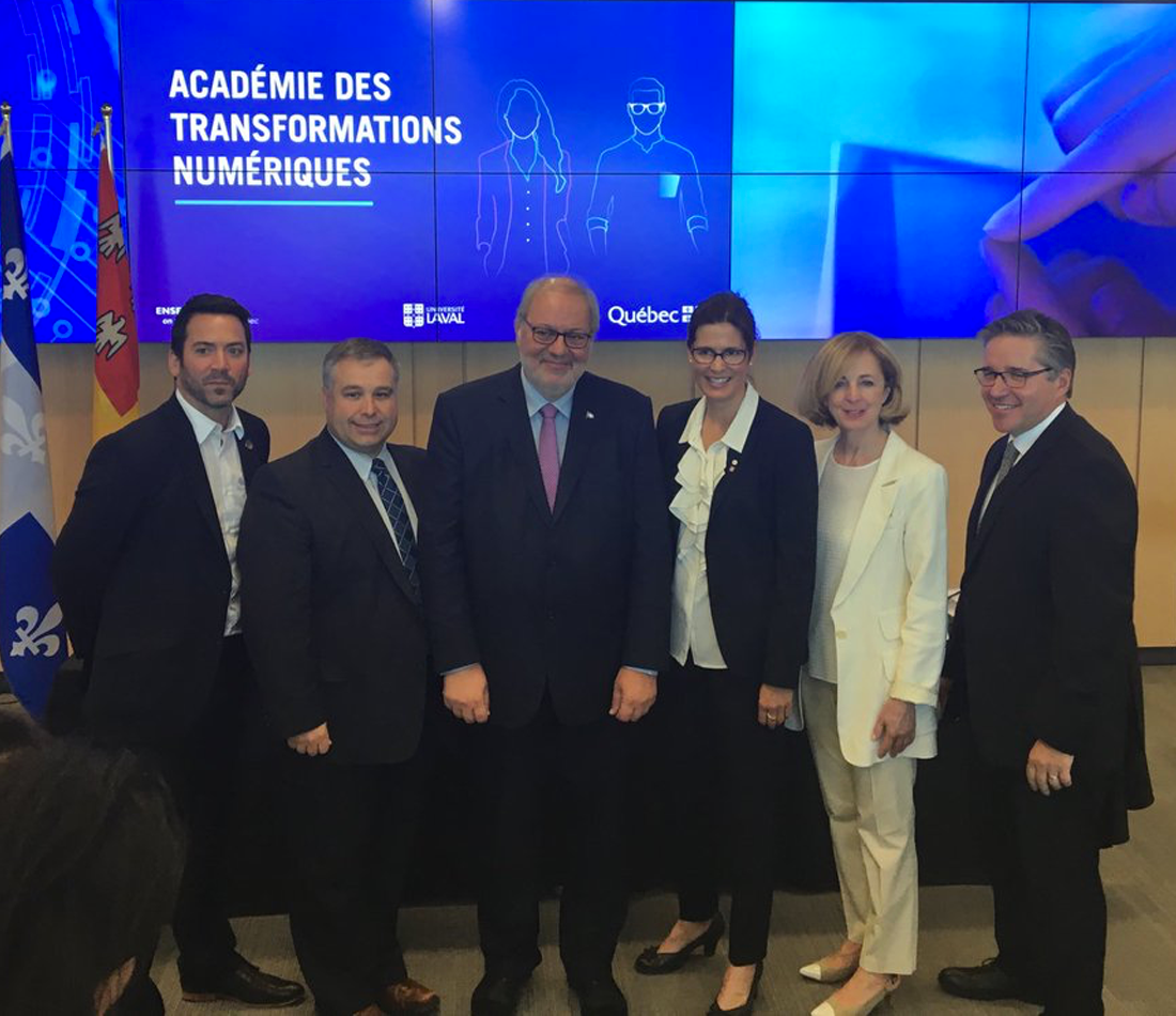 Création de l'Académie des transformations numériques - Québec s'allie à l'Université Laval pour relever le défi de la transformation numérique