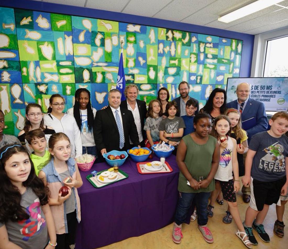 Près de 50 M$ pour offrir des petits déjeuners dans les écoles primaires en milieu défavorisé du Québec