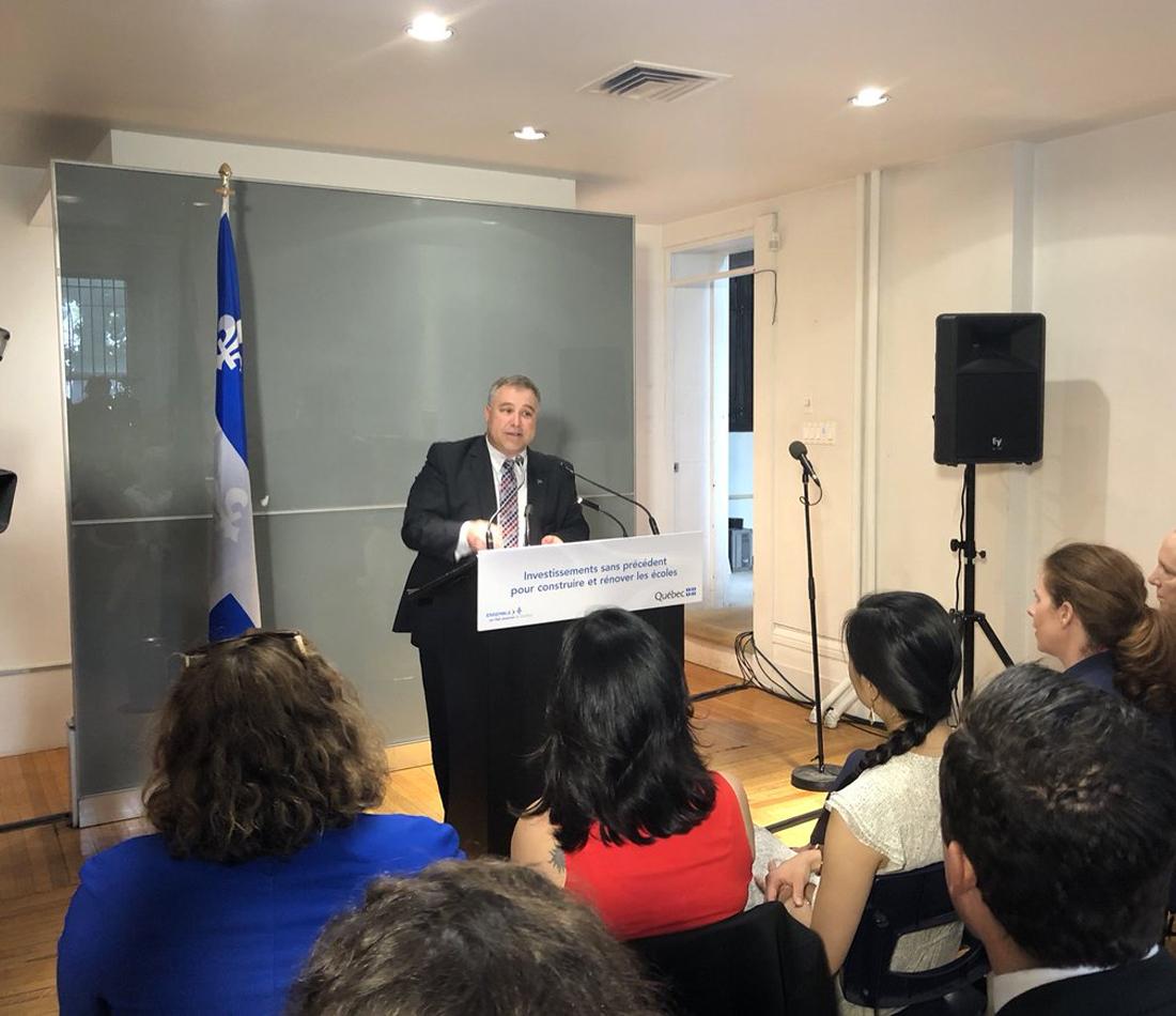 Investissements sans précédent dans les écoles du Québec - Plus de 437 M$ pour rénover, construire et agrandir des écoles dans la région de Montréal