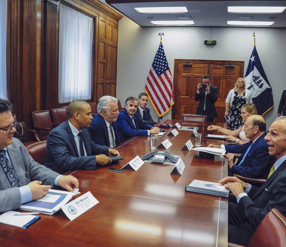 Mission du premier ministre à Washington - Philippe Couillard rencontre des décideurs de l'administration américaine et des leaders du Congrès