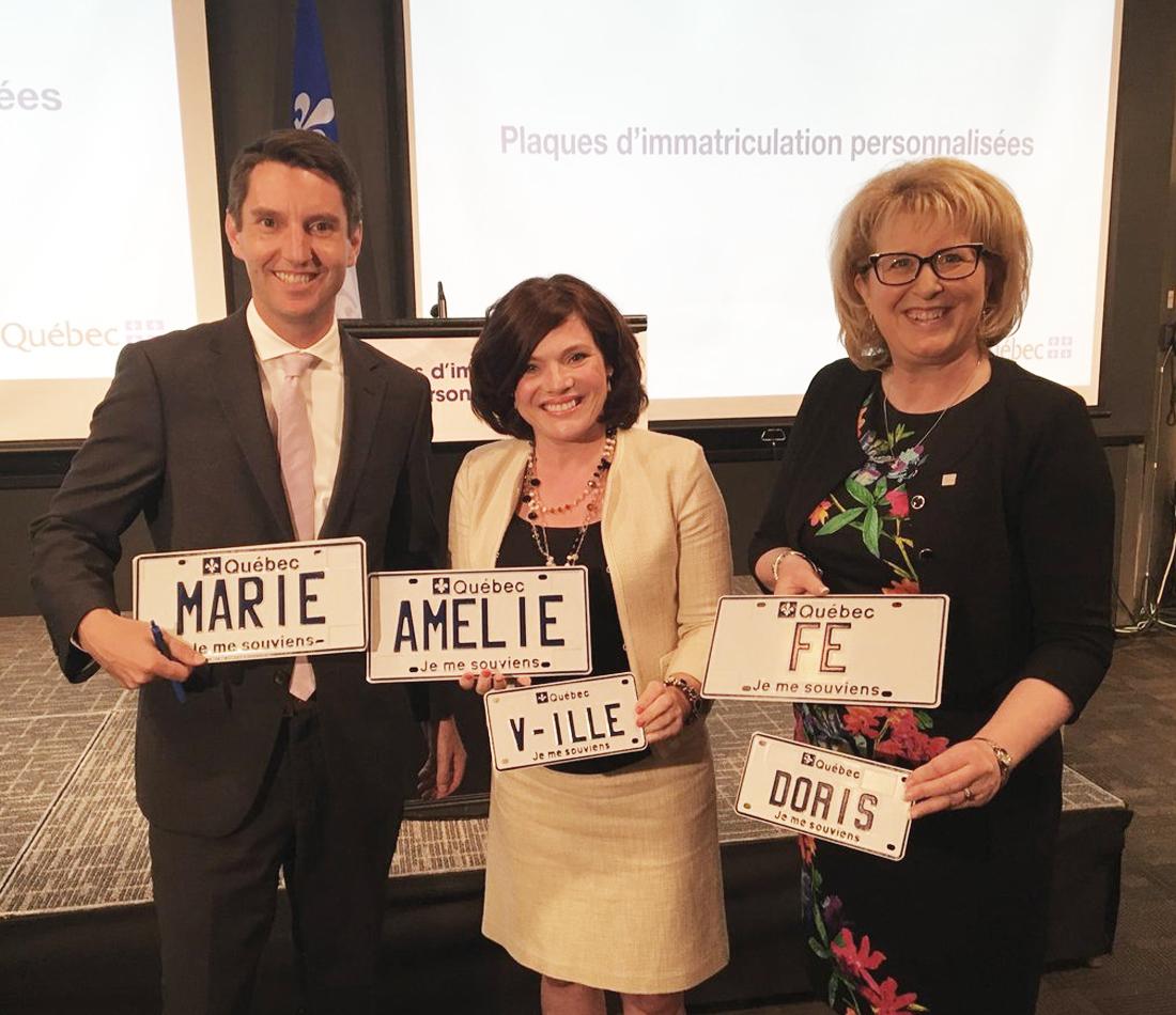 Les plaques d'immatriculation personnalisées maintenant offertes au Québec