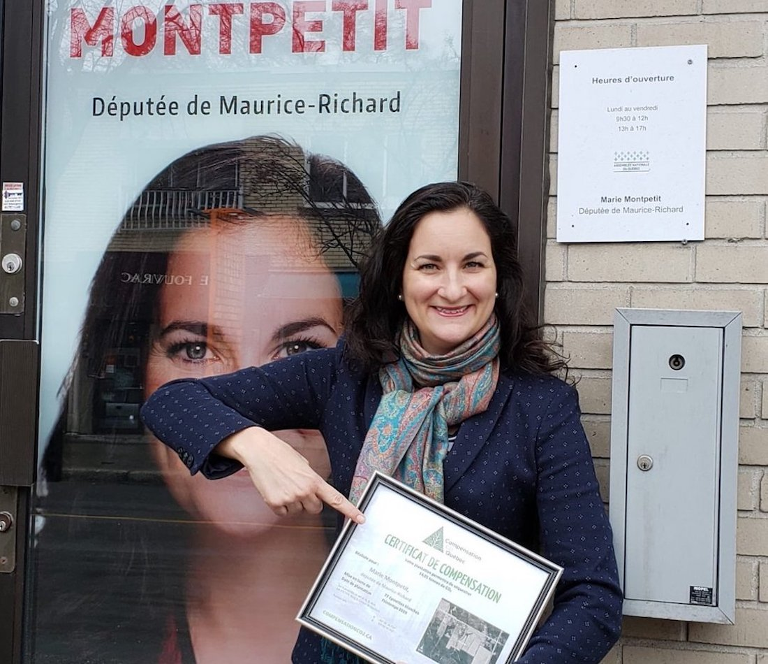 Marie Montpetit annonce que son bureau est carboneutre