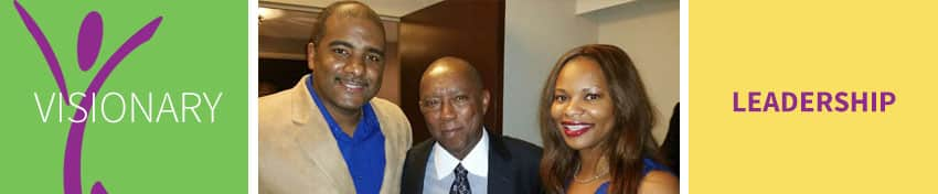 Dr. Carlos Vital, Houston Mayor Sylvester Turner, and Dr. Karla Vital
