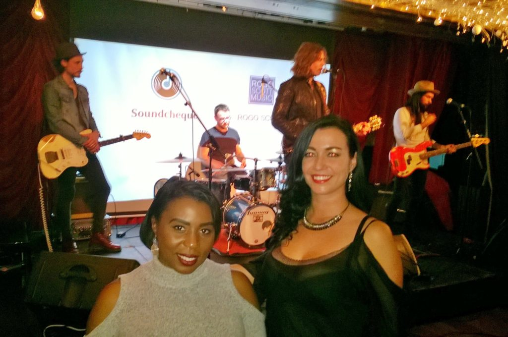 My mate Laura Westcott CEO of Soundcheque Ltd and I enjoying Willow Robinson