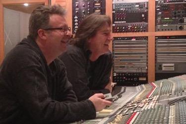 Ray B. working his magic at the mixing board.