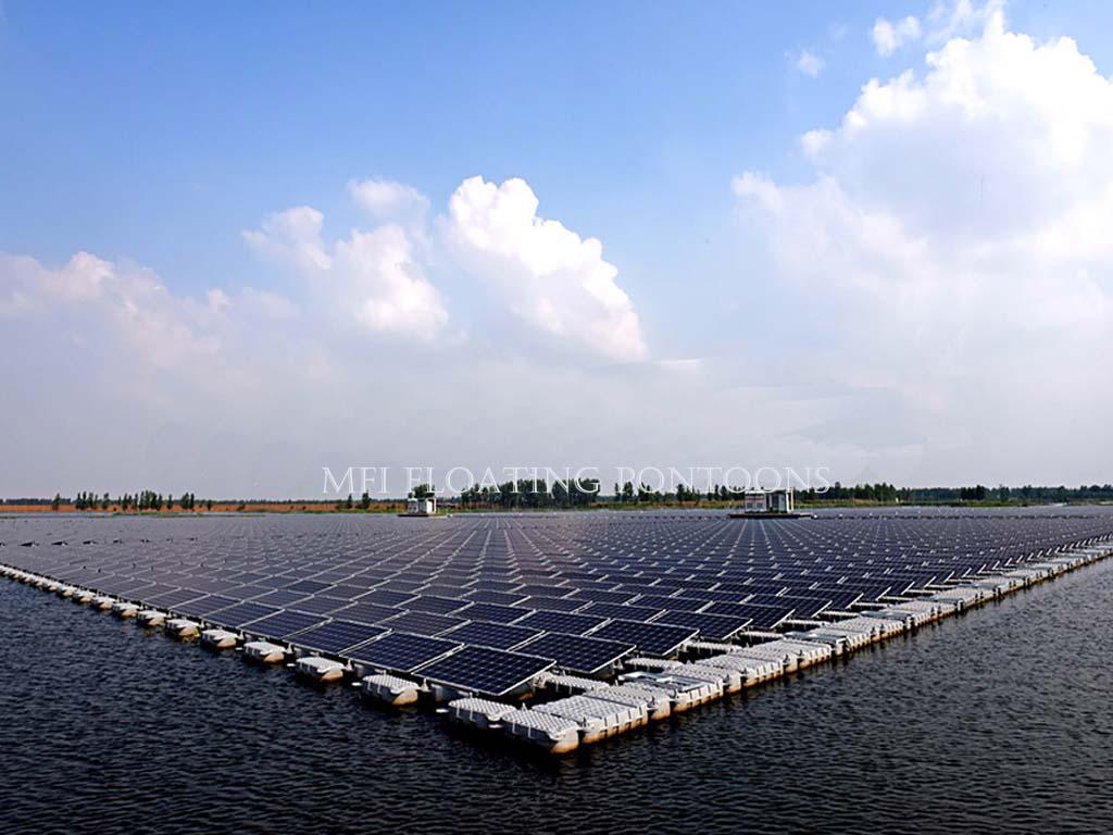 floating solar modular pontoon