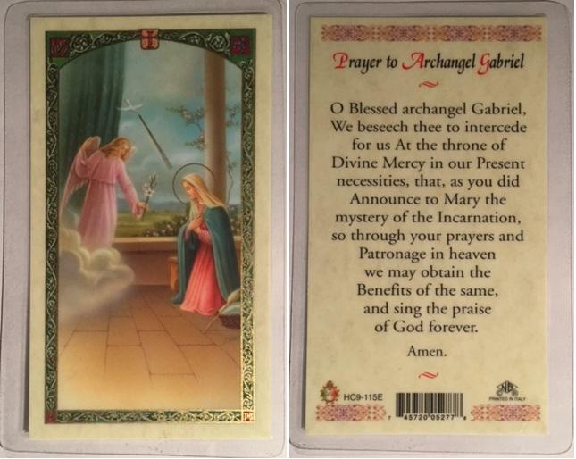 Saint Gabriel, Archangel