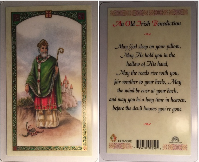 Saint Patrick Holy Card